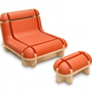 matali crasset quand jim se relaxe leather wood domeau peres artisan cuir