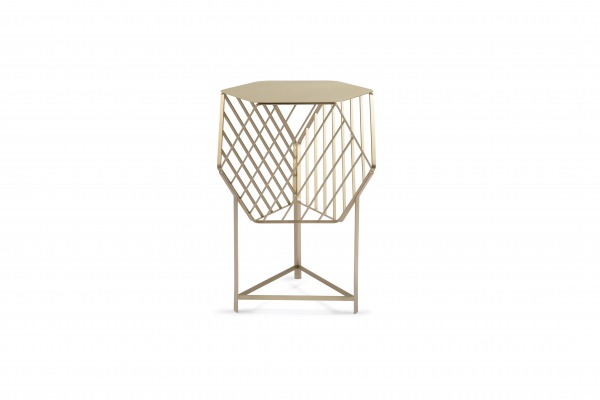 matali crasset brass side table coffee table gueridon exto