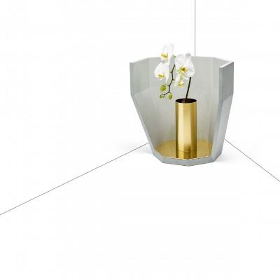 matali crasset concrete vase brass Maison objet concrete LCDA