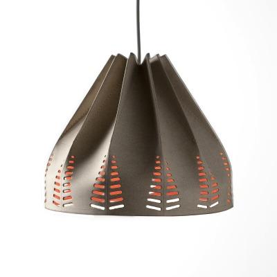 matali crasset suspension lampshade regenesi cuir organic