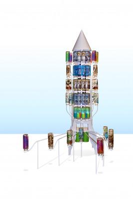 matali crasset spaceship O-I verre glass 3D printing